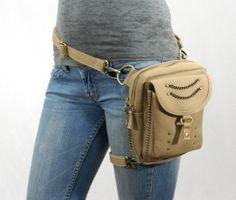 Revolution Canvas Holster Pack- Thigh Holster, Protected Purse, Shoulder Holster, Handbag, Backpack, Purse, Messenger Bag, Fanny Pack