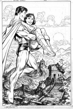 Superman and Lois Lane by John Byrne Superman And Lois Lane, Superman Family, Superman Stuff, Superman Comic, Comic Book Artists, Comic Artist, Comic Books Art, Comic Art Fans, John Byrne