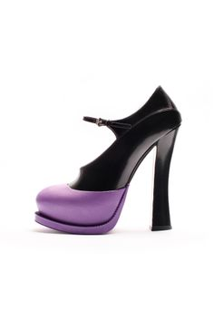 PRADA .... Design to die for...Always!  fall 2012, Prada, shoes, high heels, platforms, black, purple