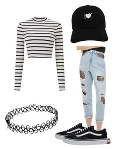 """""""⚫️Mom Jeans⚫️"""" by rand0mgirl1230 on Polyvore featuring Miss Selfridge, Topshop and Vans"""