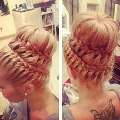 Useful Tips For Caring For Your Hair. A hair care routine can be simple or a pain, depending upon how often you clean and style your hair. You can choose a routine for your hair care when you k Up Hairstyles, Pretty Hairstyles, Braided Hairstyles, Wedding Hairstyles, Braided Updo, Bun Braid, Bun Updo, Lace Braid, Braid Hair