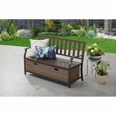 Outdoor Storage Box Deck Pool Patio Garden Porch Backyard Brown Metal Bench New #DevineBestBuys