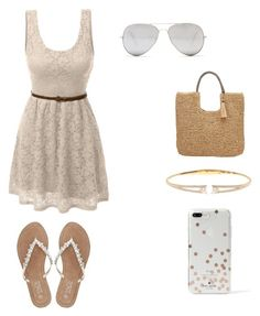 """""""Summer"""" by hudzshaik on Polyvore featuring Kate Spade, LE3NO, Nadri, Sunny Rebel, John Lewis and M&Co"""