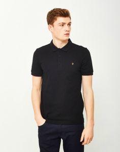 8a1c65ed FARAH Blaney Mens Short Sleeve Polo Shirt Black Best Polo Shirts, Black Polo  Shirt,