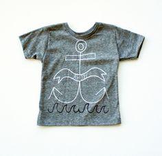 Ahoy - kid's hand printed t-shirt – Earth Cadets