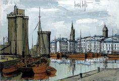 Bernard Buffet, Le port de La Rochelle, 1972 http://www.piasa.auction.fr/_fr/lot/bernard-buffet-1928-1999-la-rochelle-la-tour-st-nicolas-hellip-1509756