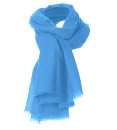 Cashmere Gauze Stole in forgot-me-not.