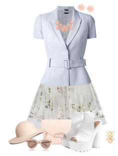 """""""Sunny Style in Cream and Nude"""" by feelgood35 ❤ liked on Polyvore"""