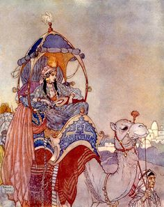 """'The Queen of Sheba' from the suite """"Women of Myth and Legend"""" (1911) by Edmund Dulac"""
