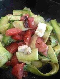 Salade de courgettes crues