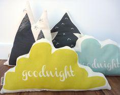 ORGANIC Cloud Pillow - Citron Goodnight pillow. $21.00, via Etsy.