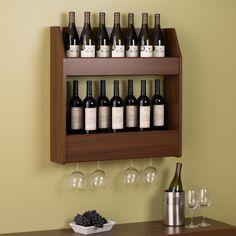 24 Bottle Wall Mount Wine Rack