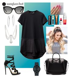 """""""Shades of You: Sunglass Hut Contest Entry"""" by tmorris-tm on Polyvore featuring Jimmy Choo, Burberry, Marc Jacobs, Givenchy, Forever 21, Clarins, Lancôme, Movado and shadesofyou"""
