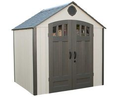 Lifetime 8 x 6.5 ft Outdoor Storage Shed w/ FREE Skylight