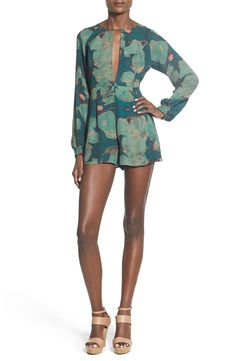 Stone Cold Fox 'Sienna' Silk Romper available at #Nordstrom