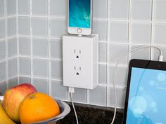 thingCHARGER - Universal Charging Outlet - Turn your wall socket it into a streamlined charging station. thingCHARGER lets you use your plugs, but adds two USB ports and a charging dock.