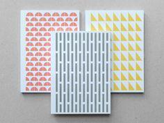 love it! Geometry Set Jotters. $8.00, via Etsy.