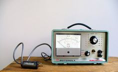 Vintage Motorola Voltmeter / Industrial Home by BirdinHandVTG,