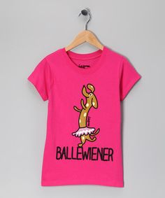 Take a look at this Bubble Gum 'Ballewiener' Tee - Girls by Request Jeans & Inkbone on #zulily today!