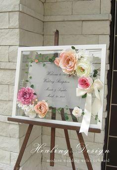 結婚式ウェディングウェルカムボード/ピンクローズ2