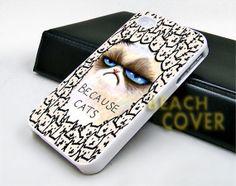 Because Cat Grumpy  iPhone Case and Samsung by BEACHCOVERR on Etsy, $14.30