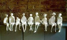 """turkish artist esma pascal turam creates fascinating paper sculptures which offer an interesting narrative on the """"floating in and flowing ..."""