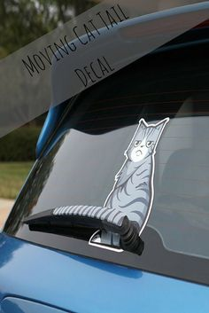 Not just for cat lovers. With the decal fixed to the rear wiper, it looks as if the cat is cleaning the rear window with its tail.