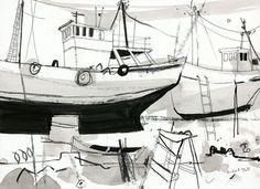 Sardine Trawlers - Richard Tuff - Beside the Wave