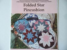 craft sewing pattern - Folded Star Pincushion Pattern by Piecemakers