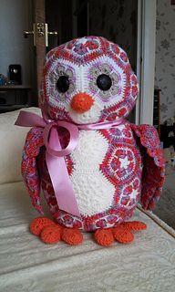 Granny Square Owl Animal - Paid Pattern