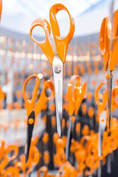 Fiskars' classic orange scissors are so iconic that their birthday is being celebrated with a special exhibition in Helsinki. Fiskars Scissors, Tatty Devine, Design Museum, Helsinki, 50th Birthday, Product Design, Finland, Orange, Classic