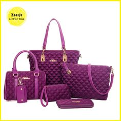 Check out this product on Alibaba.com APP The Most Beautiful Trend Cheap Branded Soft Fabric Hand Bags Womens Shoulder Bag Fashion Handbag Set 2016 6 Piece Handbags Sets