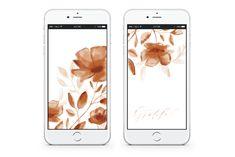 *Free* Fall Floral Mobile Wallpaper | lark & linen