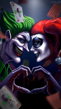 Harley Quinn Tattoo, Harley Quinn Et Le Joker, Harley And Joker Love, Harley Quinn Drawing, Photos Joker, Joker Images, Joker Iphone Wallpaper, Joker Wallpapers, Wallpaper Desktop