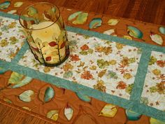 Autumn Leaves Quilted Table Runner by susiquilts on Etsy, $60.00