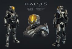 Halo 5 Multiplayer Armor Freebooter, Airborn Studios on ArtStation at https://www.artstation.com/artwork/3bdym