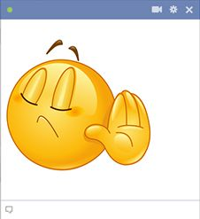 If someone isn't taking no for an answer, just post this expressive smiley in response.