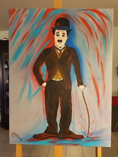 Charlie chaplin Abstract Art, Charlie Chaplin, Painting, Fictional Characters, Instagram, Art Paintings, Art Pieces, Painting Art, Paintings
