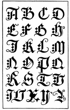 Gothic Calligraphy Fonts Alphabet...Just tried some varriations of this one, it worked well with a double tipped nib.