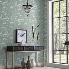 Botanical Fantasy Peel and Stick Wallpaper from York Wallcoverings. $50.00 per single roll. You searched for simply candice - Lelands Wallpaper. #wallpaper #design with wallpaper #homedecor Plant Wallpaper, Botanical Wallpaper, Wallpaper Paste, Peel And Stick Wallpaper, Floating Garden, Wallpaper Warehouse, Candice Olson, Contemporary Wallpaper, Burke Decor