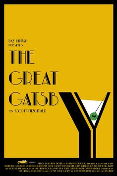The Great Gatsby ~ Minimal Movie Poster by Sharm Murugiah Art Deco Posters, Cool Posters, Film Posters, Vintage Posters, Film Poster Design, Movie Poster Art, The Great Gatsby Movie, Gatsby Book, Minimal Movie Posters