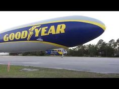 2 24 2017 Goodyear Blimp (Airship) Windfoot One visits Spruce Creek
