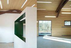 Umbau des ehemaligen Bahnhof / Lagerschuppen in Kluftern zu einem Jugendtreff. (Oberschelp-Architekten)