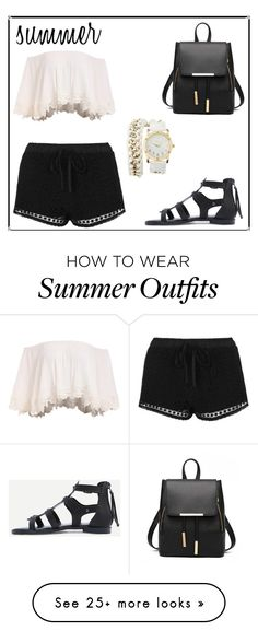 """summer outfit"" by missjennaluv on Polyvore featuring Topshop, Charlotte Russe, beachday, summerstyle and fashionset"