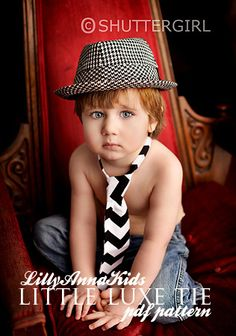 Little Luxe Neck Tie PDF Pattern by Lilly Anna Kids