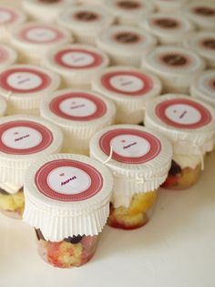 Cute use of cupcake wrappers