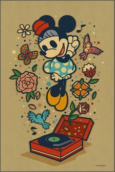 'Minnie's Favorite Music' by Dave Quiggle for Disney's WonderGround Gallery