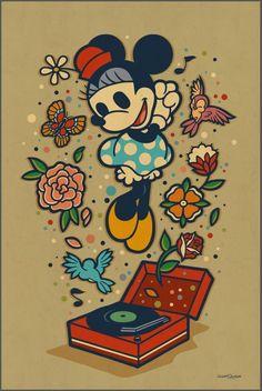 'Minnie's Favorite Music' by Dave Quiggle for Disney's WonderGround Gallery