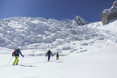 Crossing the glacier in the Vallée Blanche