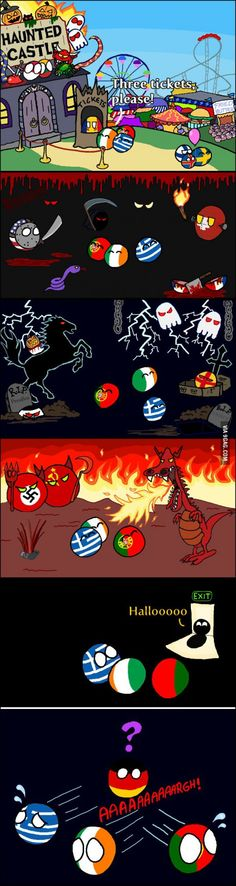 Haunted House of Europe. Best Funny Pictures, Funny Images, Satw Comic, History Memes, Fun Comics, Country Art, Germany, Life Hacks, Anime